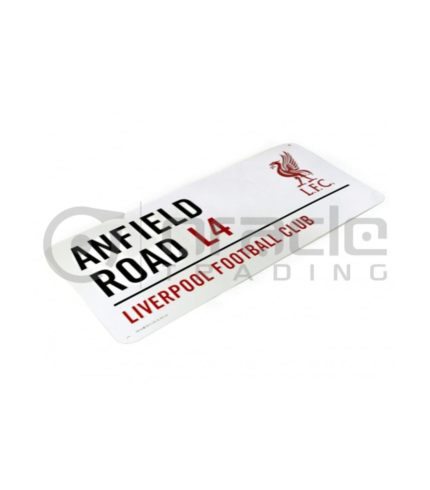 Liverpool Street Sign - White