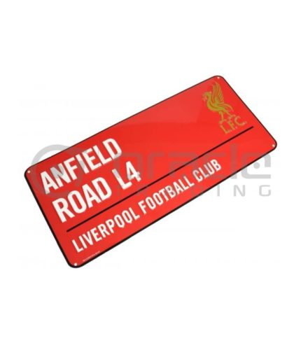 Liverpool Street Sign - Red