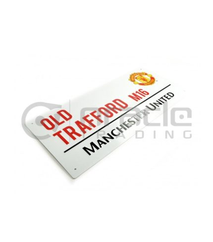 Manchester United Street Sign - White