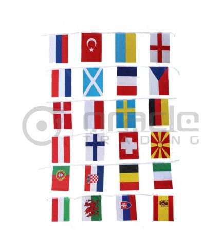 2021 Euro Cup String Flag (Bunting) - 24 Country