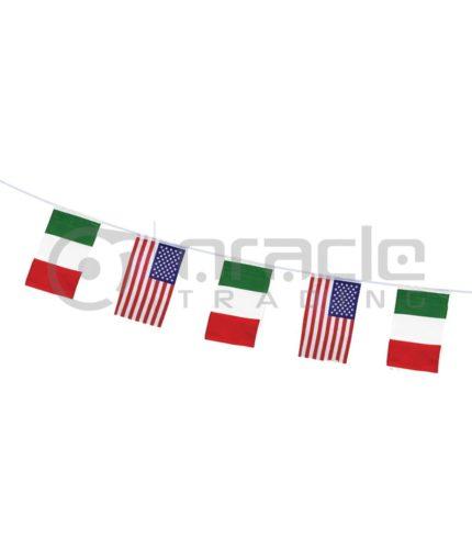 Italian American String Flag