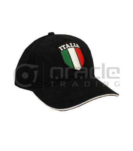 Italia Vintage Hat - Black